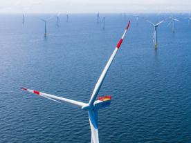EnBW's Baltic Sea wind farm Baltic 2 consists of 80 turbines. The company is planning to build and begin operating the wind farm He Dreiht by 2025 without EEG subsidies. (Photo: EnBW)