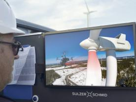 A massive drone-based inspection campaign on 1,250 Vestas turbines (pict. Sulzer Schmid)