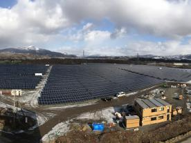 """The """"Date"""" solar farm has a total capacity of 10.32 MW and an annual electricity generation of 11 Mill. kWh. (Photo: skytron energy)"""
