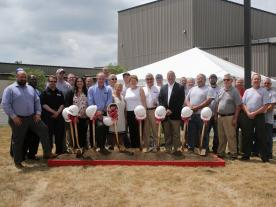 The groundbreaking ceremony for the plant expansion in Watertown, which took place in July 2016, was attended by Manfred Roth, Executive Chairman,of Roth Industries, Joseph A. Brown, Chief Executive Officer (CEO) of Roth USA and the mayor of Watertown, Joseph Butler. Other guests included representatives of the State of New York, of Jefferson County and the Watertown region. (Photo: Roth Industries)