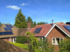 Solar thermal can provide domestic heat and help reduce fuel poverty. (Photo: Solar Trade Association/Norfolk Solar)
