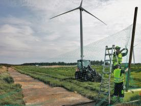 The preparations for dismantling the V164-9.5 MW began on 14 August. (Photo: MHI Vestas)