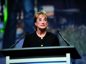 Currently still head of the AWEA: Denise Bode (Photo: AWEA)