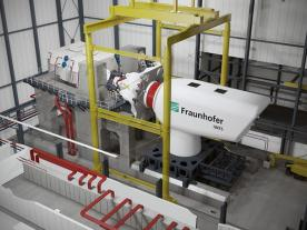 Planned test stand for wind energy nacelles (Illustration: Fraunhofer IWES / IDO